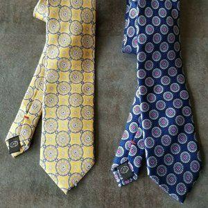 100% Silk Private Stock Neckties - ( 2 ) Mens Ties